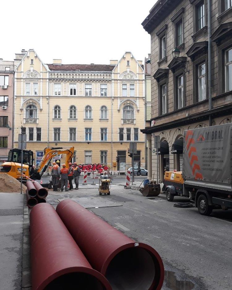 Izvođenje radova na rekonstrukciji vodovodne i kanalizacione mreže