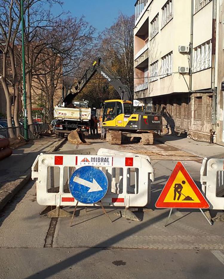 Rekonstrukcija vodovodne i kanalizacione mreže u ul. Kranjčevićeva