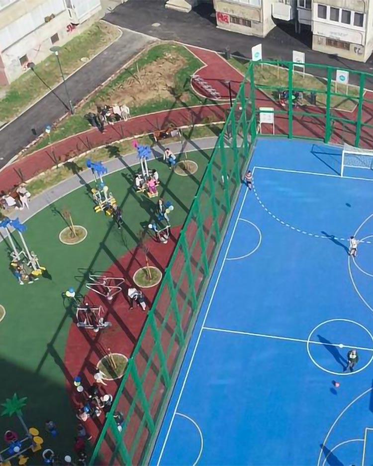Construction of children's playground in Envera Šehovića Steet
