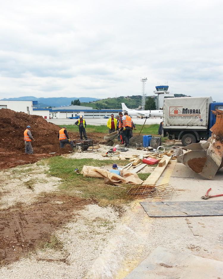 Izgradnja kišnog kolektora na Međunarodnom Aerodromu Sarajevo