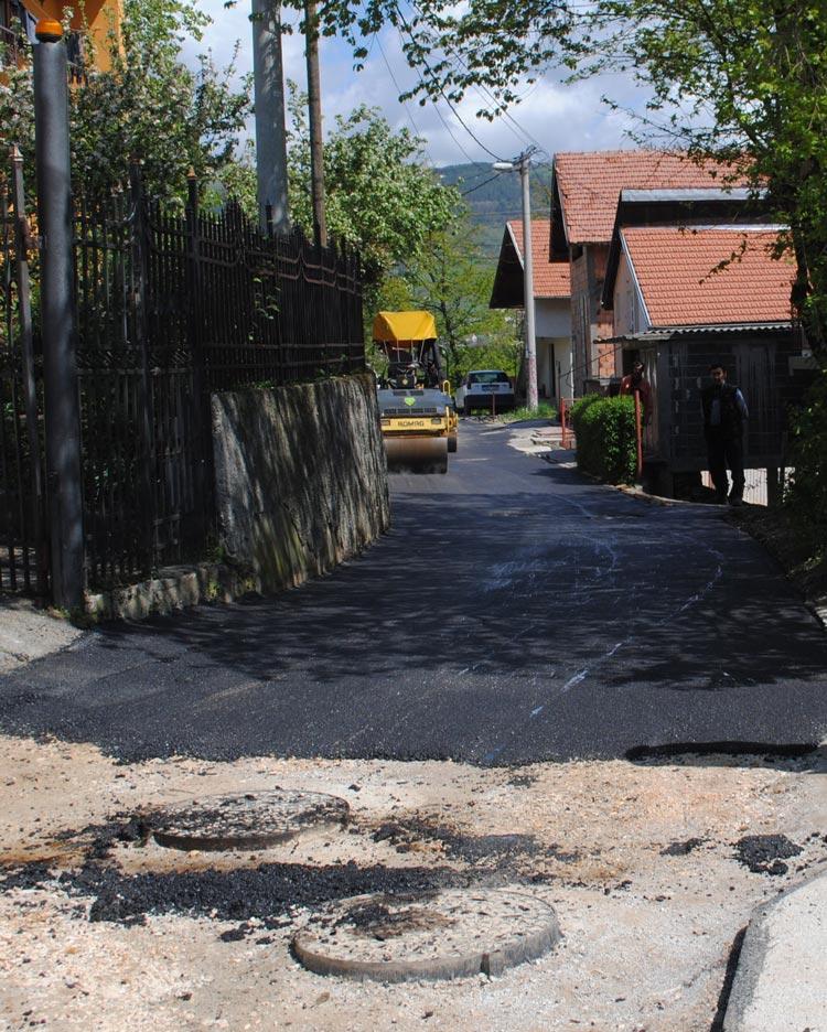 Izvođenje radova na sanaciji klizišta na lokalitetu Bušća