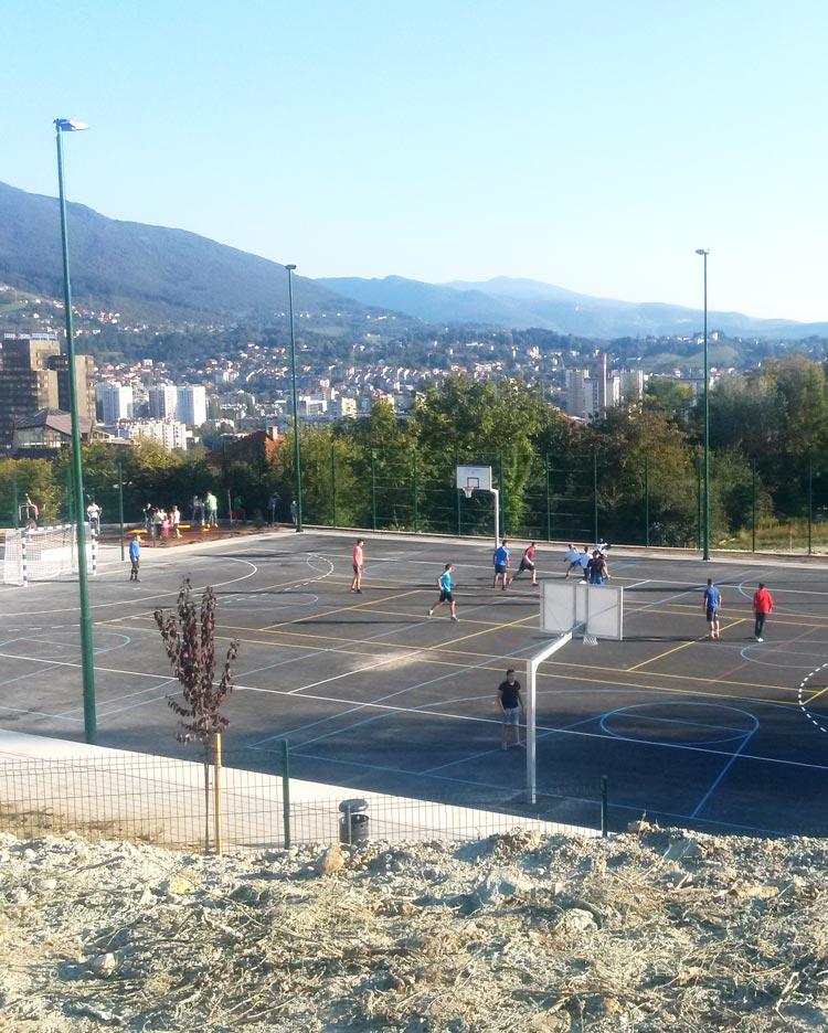 Construction of a sports field in Pofalići Street, Municipality Novo Sarajevo