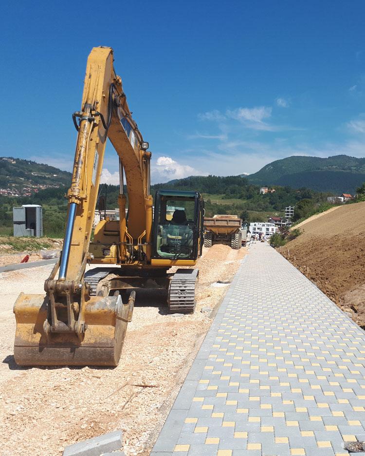 Execution of works on landslide remediation at the Jezero – Kromolj site