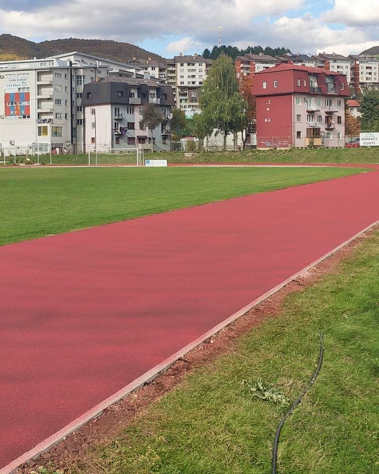 "Athletic track at the stadium ""Hakija Mršo"" Vogosca"