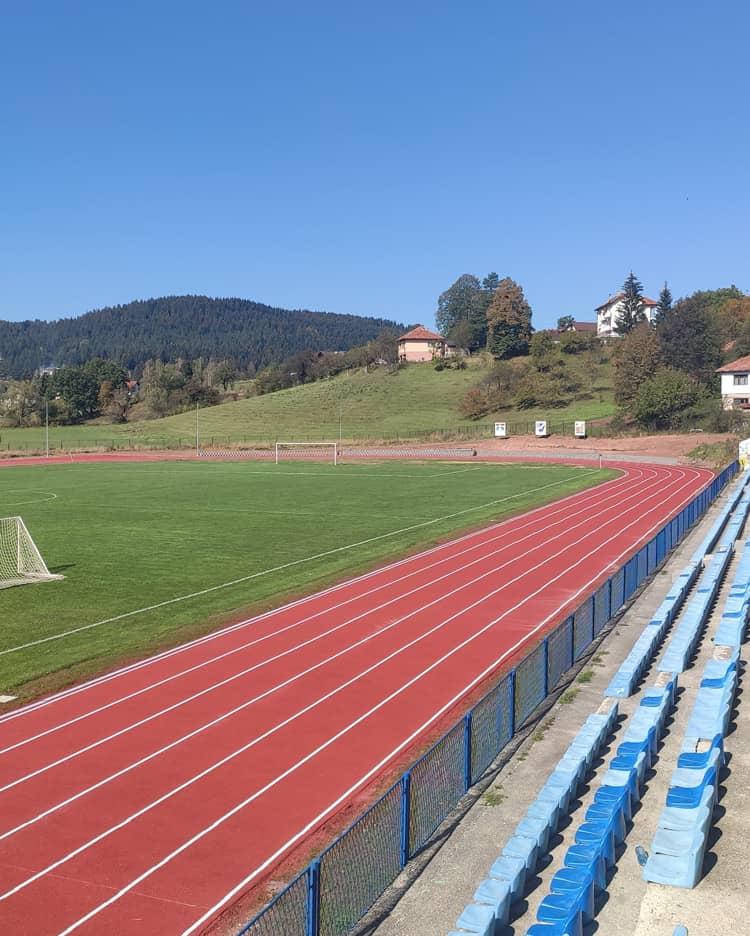 "Athletic track at the stadium ""Vlajko Petrović"" Pale"